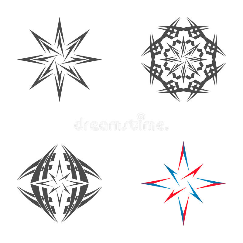 Logo star of Bethlehem. On a white background royalty free illustration