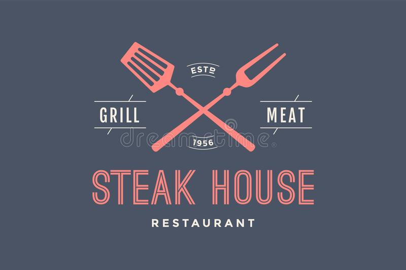 Logo steakhouse royalty ilustracja