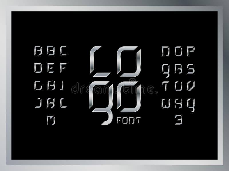 Logo steel alphabet. Vector letters. royalty free illustration