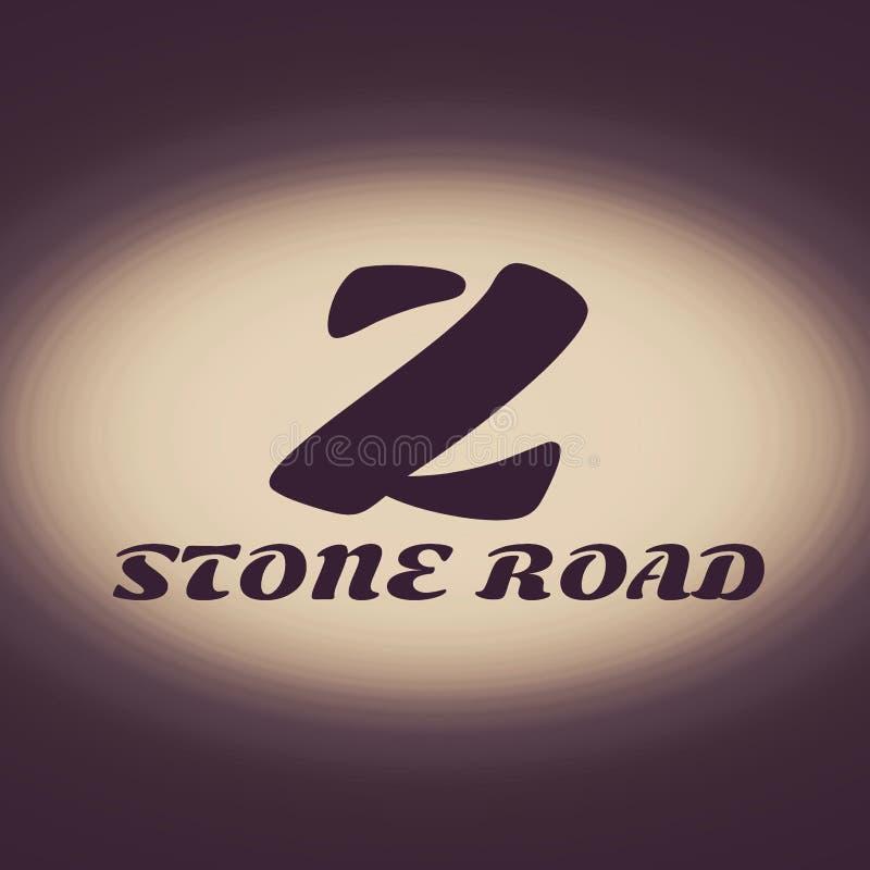 Logo Stone Road immagine stock