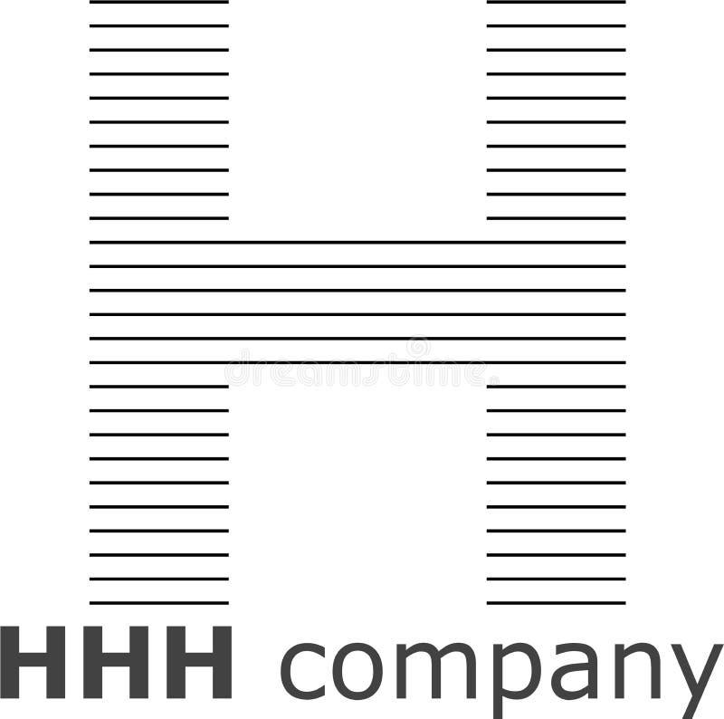 Logo a strisce della lettera H immagini stock libere da diritti