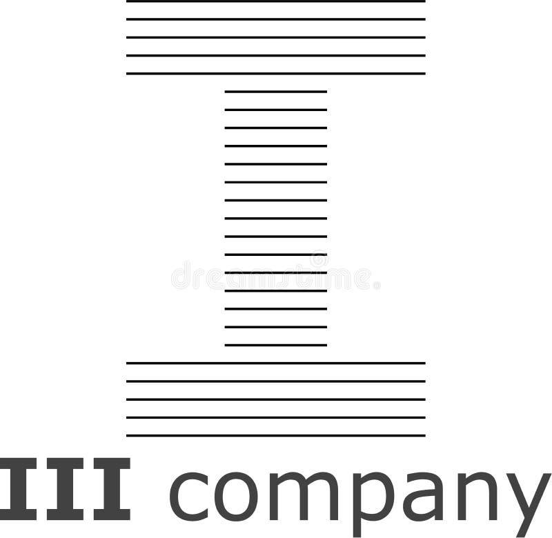 Logo a strisce della lettera I immagini stock