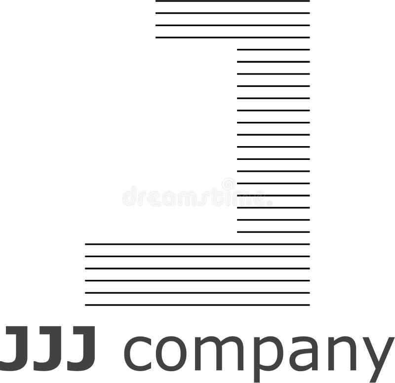 Logo a strisce della lettera J immagini stock