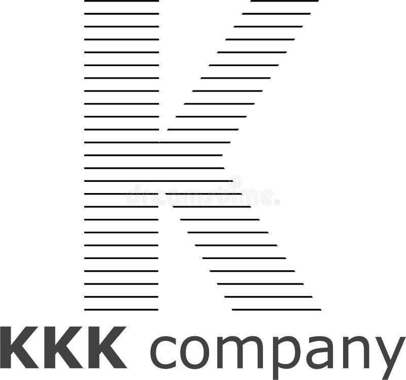 Logo a strisce della lettera K immagine stock
