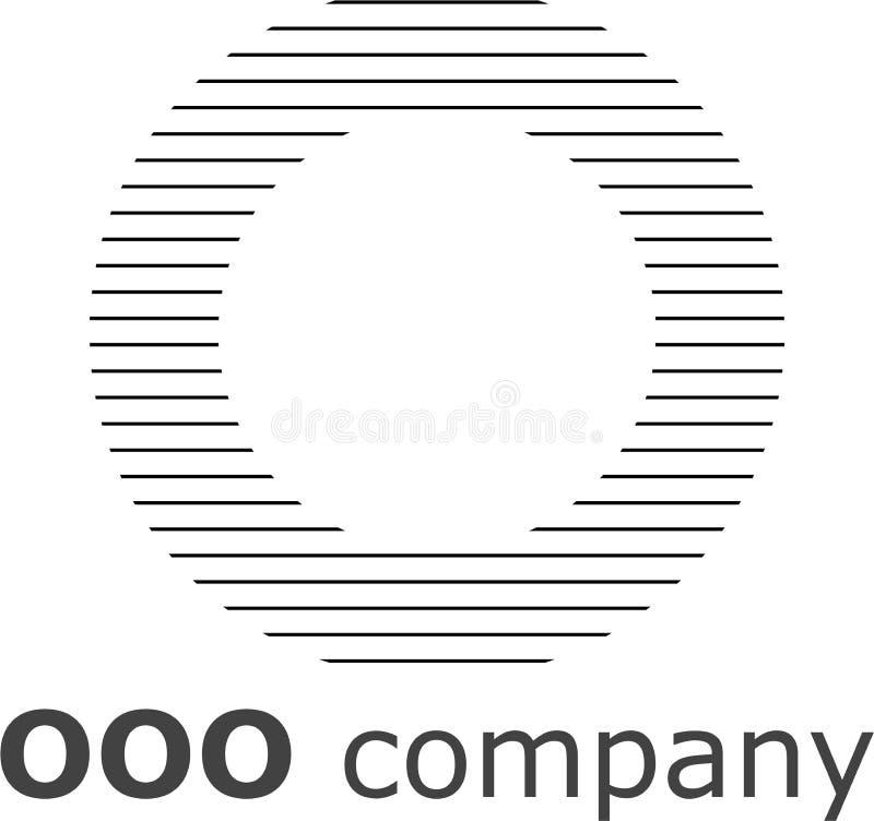 Logo a strisce della lettera O fotografie stock libere da diritti