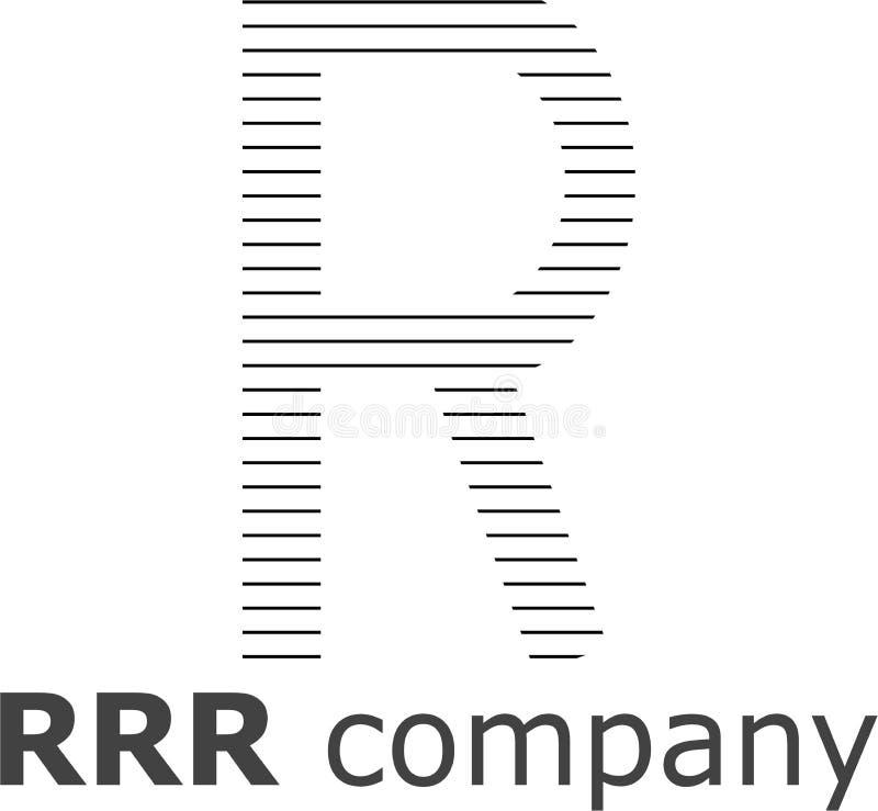 Logo a strisce della lettera R immagine stock libera da diritti