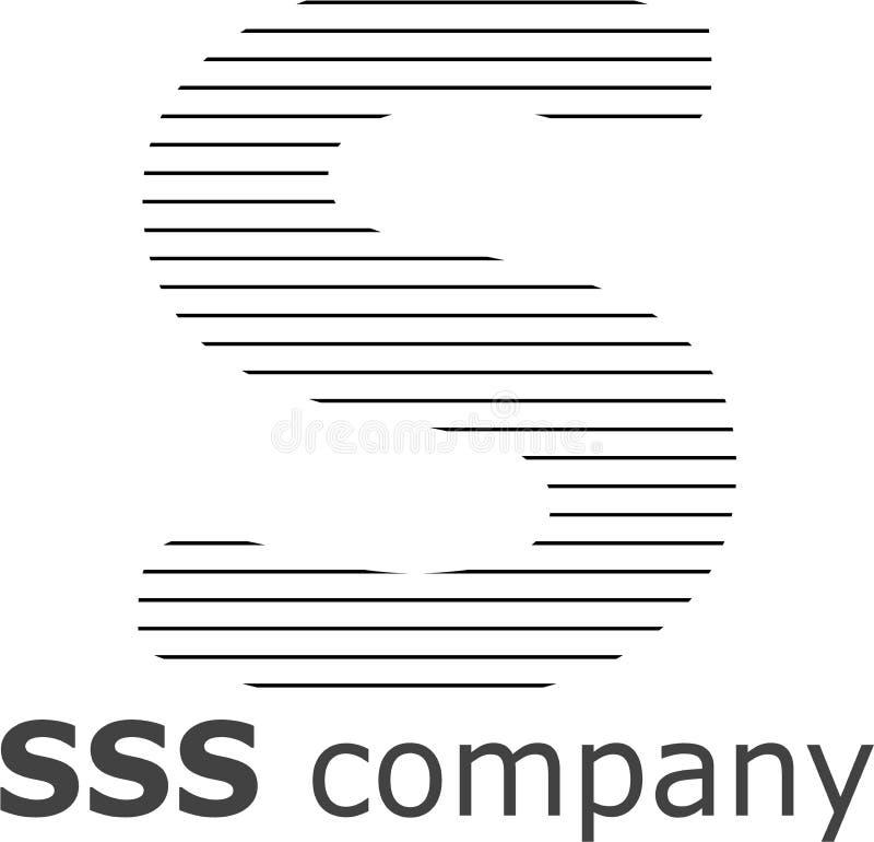 Logo a strisce della lettera S immagini stock libere da diritti