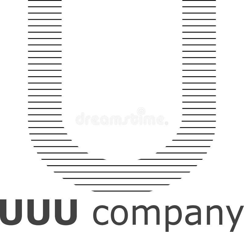 Logo a strisce della lettera U immagini stock libere da diritti