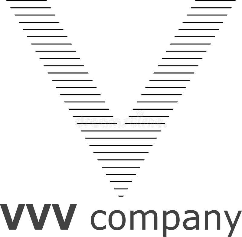 Logo a strisce della lettera V fotografia stock libera da diritti