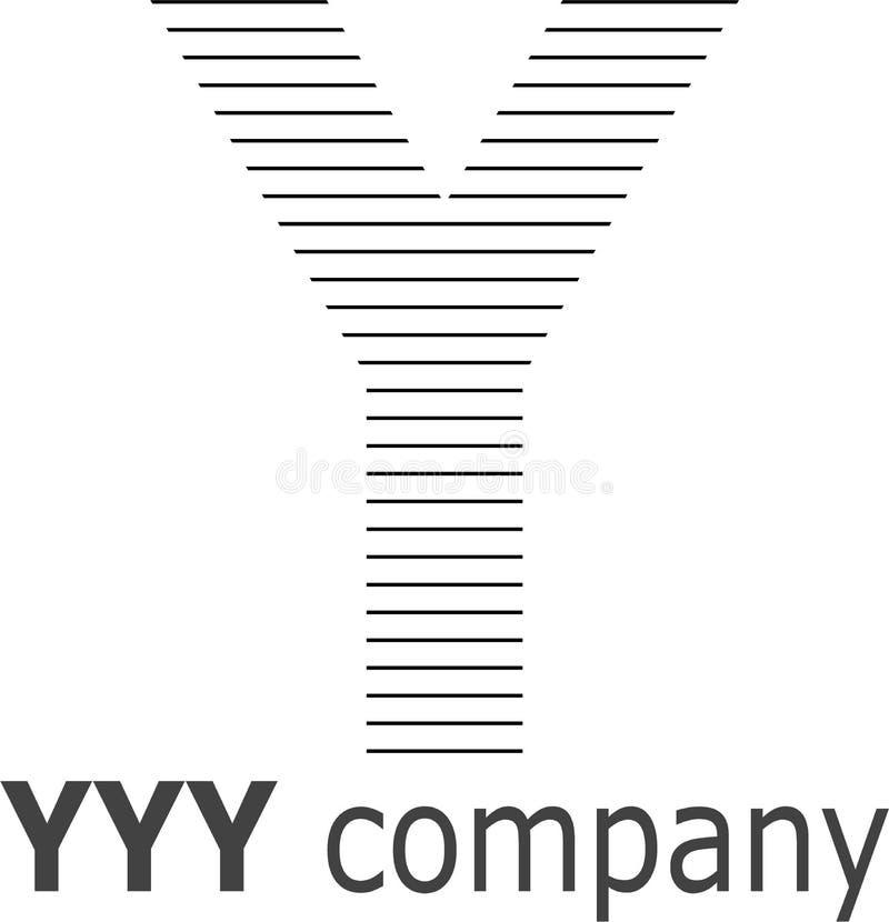 Logo a strisce della lettera Y immagini stock libere da diritti