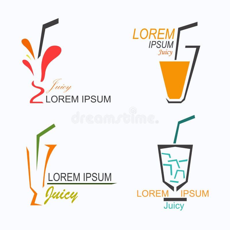 Logo succoso illustrazione vettoriale