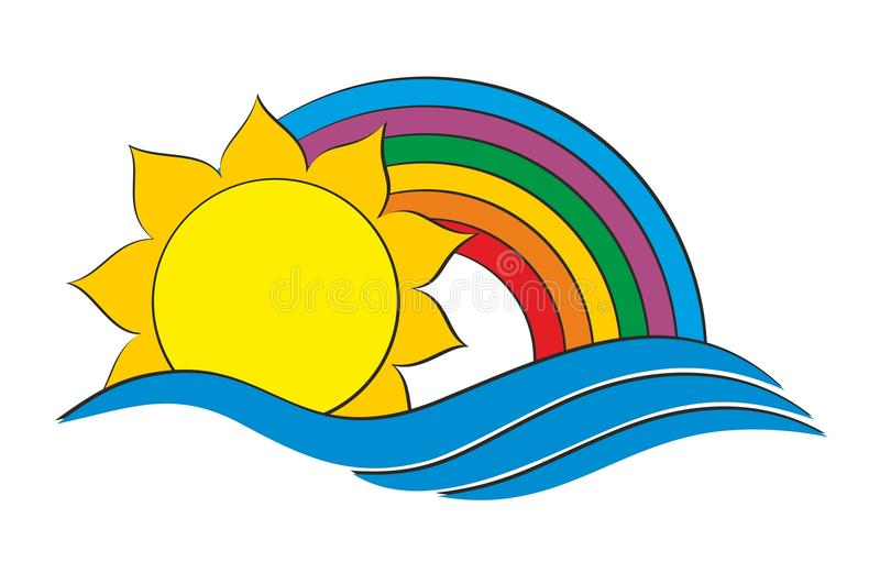 Logo of the sun and sea. royalty free illustration