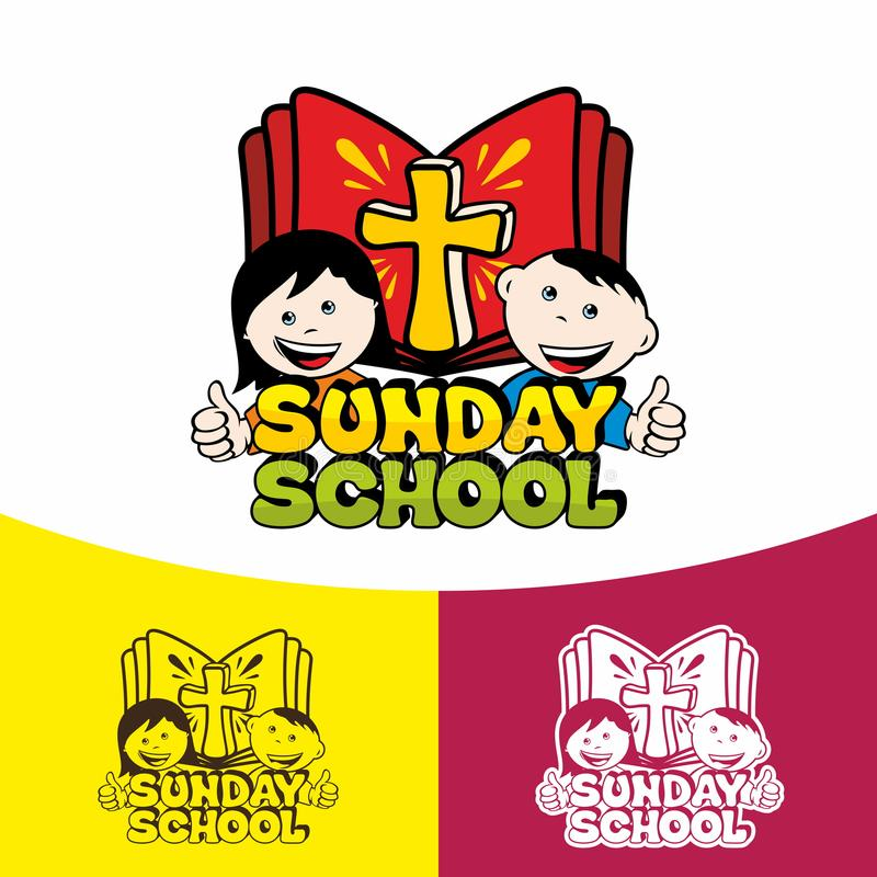 Logo Sunday school. Christian symbols. The Church of Jesus Christ stock illustration