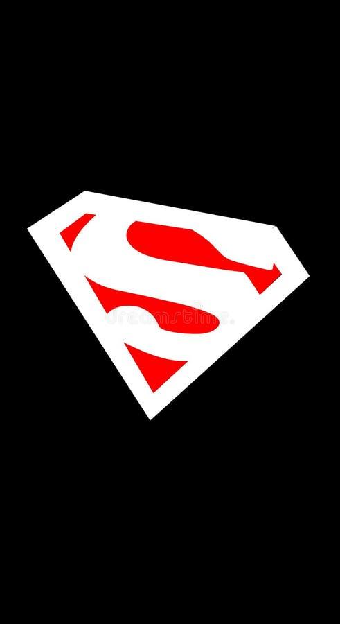 Logo Superman de papier peint illustration libre de droits