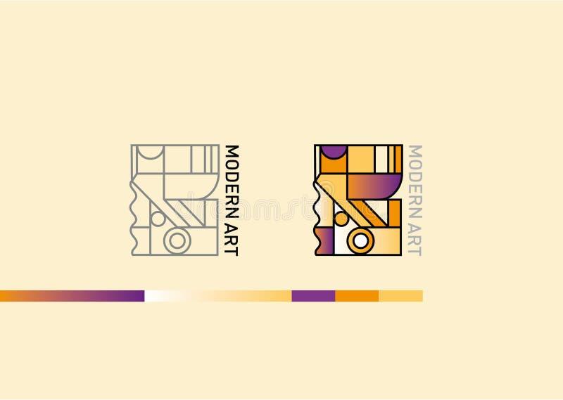 Logo sur le thème de l'art moderne illustration stock