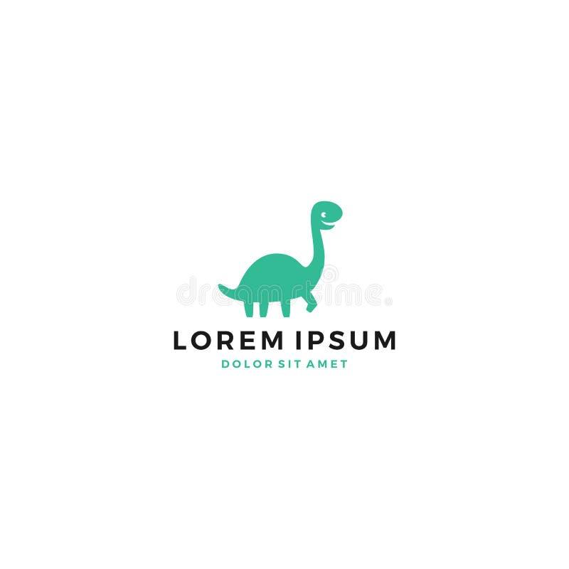 logo sveglio del brontosauro di dinosaurus del dinosauro di Dino royalty illustrazione gratis