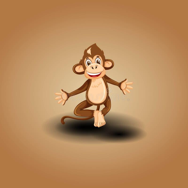 Logo sveglio della scimmia illustrazione vettoriale