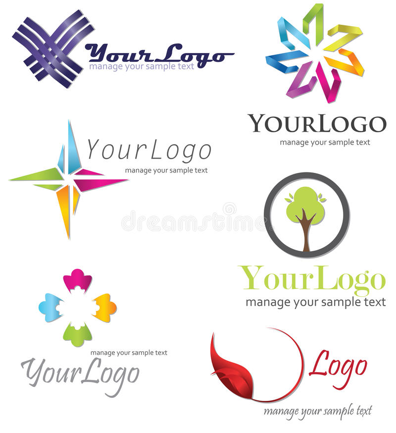 Logo Symbol. Symbol logo set, company identity pack vector illustration