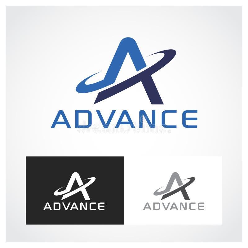 Logo Symbol avançado imagens de stock royalty free