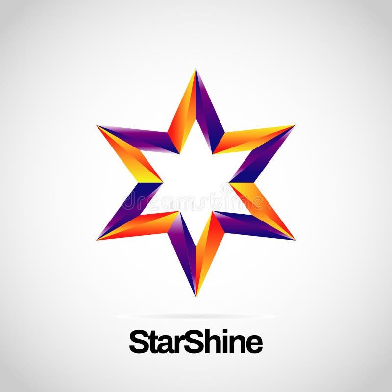 Logo Symbol Icon roxo alaranjado vibrante brilhante ilustração stock