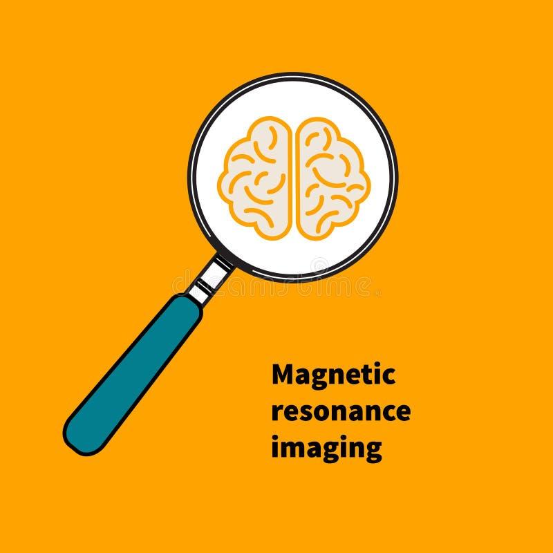 Logo symbol MRI stock illustrationer