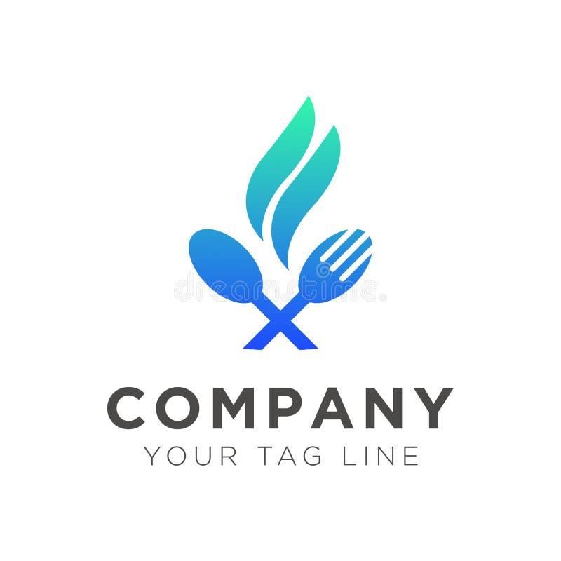 Logo szablon dla karmowych restauracji ilustracji