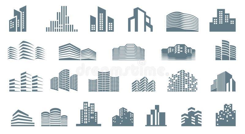 Logo szablonu nieruchomość Czystego, nowożytnego i eleganckiego stylu projekt, ilustracja wektor