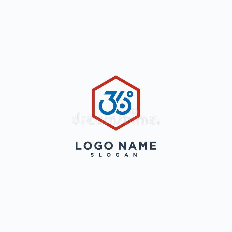 360 logo szablonu wektorowa ilustracja, ikona projekt ilustracji