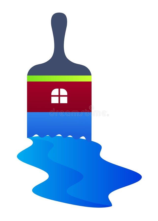logo szczotkarska farba ilustracja wektor