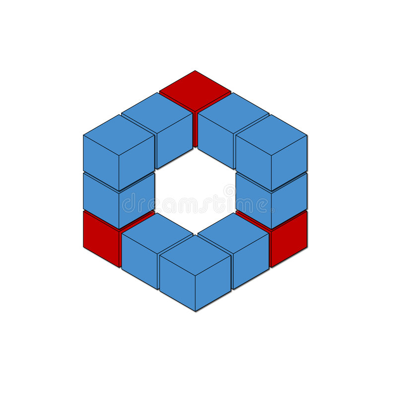 logo sześcianu ilustracja wektor