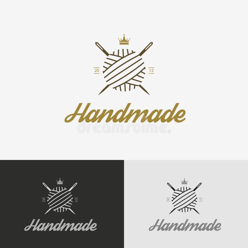 Logo, szwalny sklep z igłą ilustracja wektor