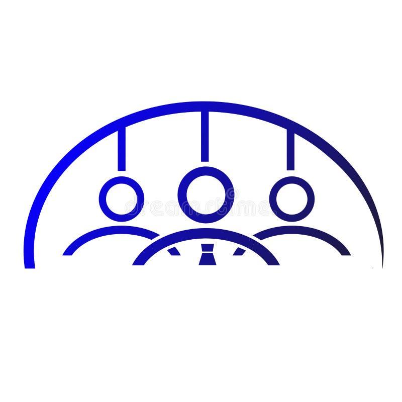 Logo Team Work gradual azul, unidade e Loyality ilustração do vetor