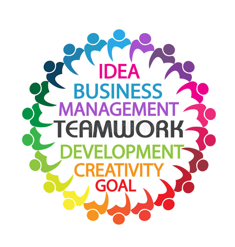 Logo teamwork business people stock illustration