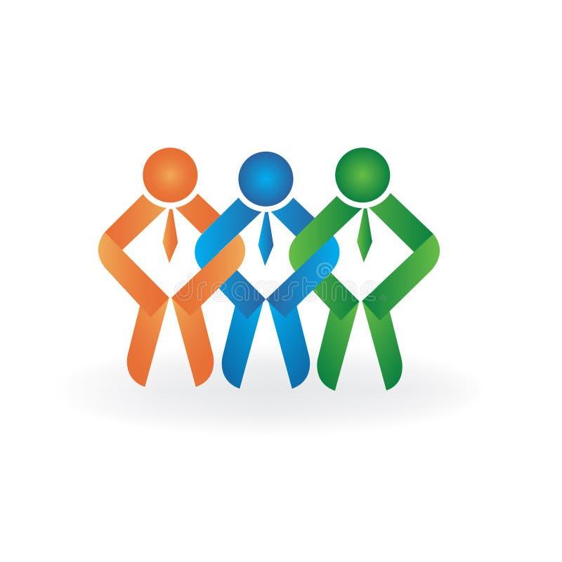 Logo teamwork friendship symbol image vector illustration vector illustration
