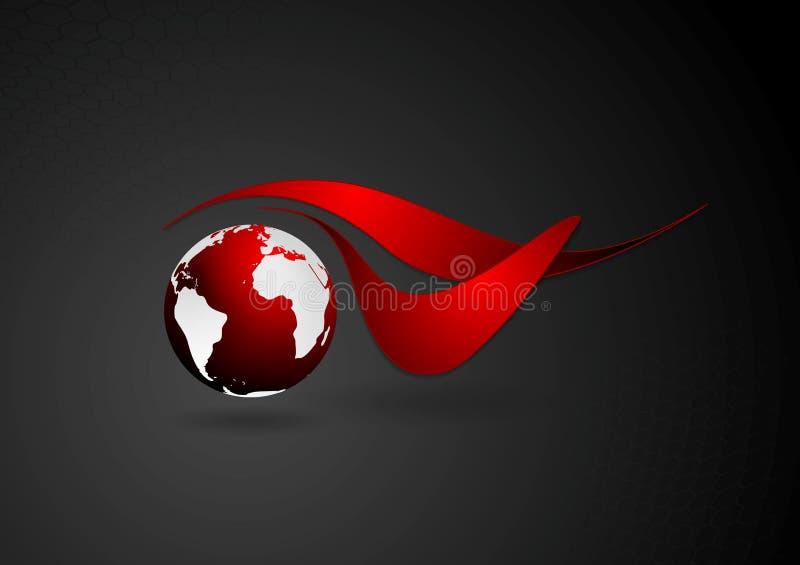 Logo technique abstrait avec le globe foncé illustration libre de droits