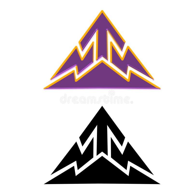 Logo techno della freccia di tecnologia della montagna ciao royalty illustrazione gratis