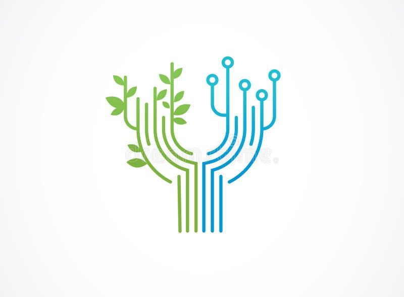 Logo - tecnologia, icone di tecnologia e simboli illustrazione di stock