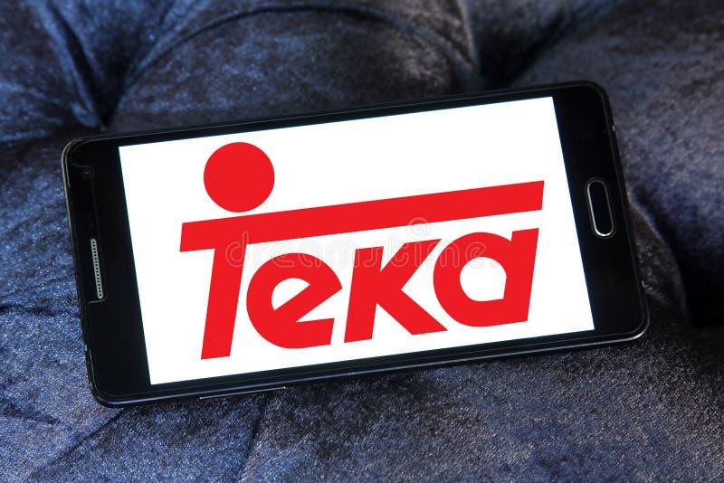 Teka company logo. Logo of Teka company on samsung mobile. Teka is multinational Home appliances company royalty free stock photography