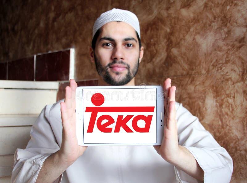 Teka company logo. Logo of Teka company on samsung tablet holded by arab muslim man. Teka is multinational Home appliances company royalty free stock photography