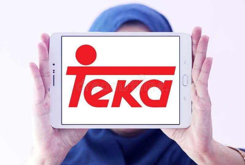 Teka company logo. Logo of Teka company on samsung tablet holded by arab muslim woman. Teka is multinational Home appliances company stock photo
