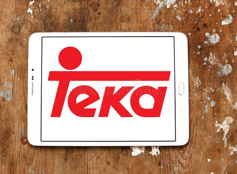 Teka company logo. Logo of Teka company on samsung tablet. Teka is multinational Home appliances company royalty free stock image