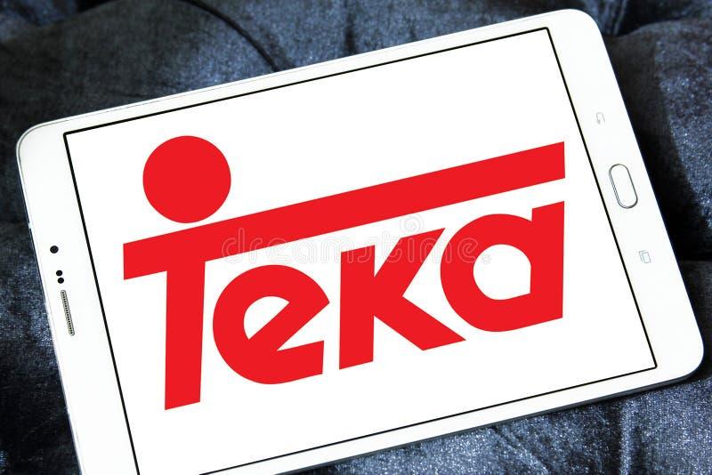 Teka company logo. Logo of Teka company on samsung tablet. Teka is multinational Home appliances company royalty free stock photography