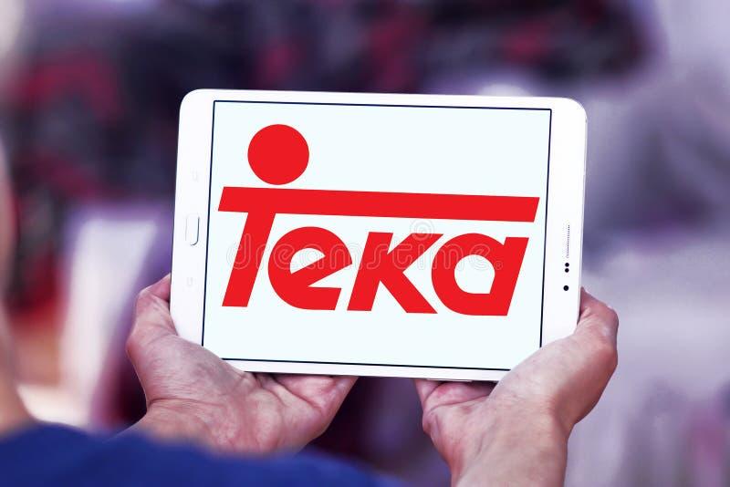 Teka company logo. Logo of Teka company on samsung tablet. Teka is multinational Home appliances company royalty free stock images