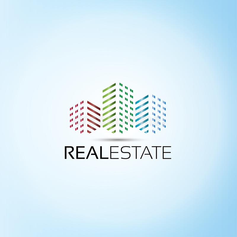 Real Estate Tower Logo stock illustration