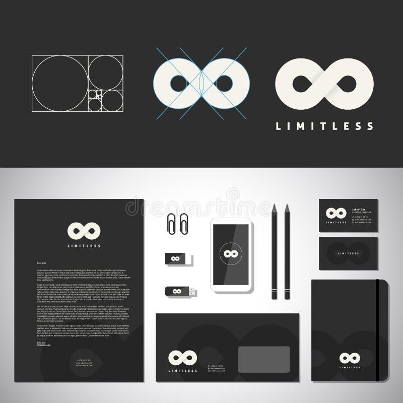 Logo Template abstrait sans limites et identité illustration libre de droits