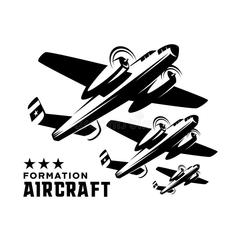 Logo Template aircraft formation stock illustration