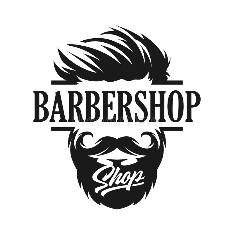 Logo Template Barber-winkel stock illustratie
