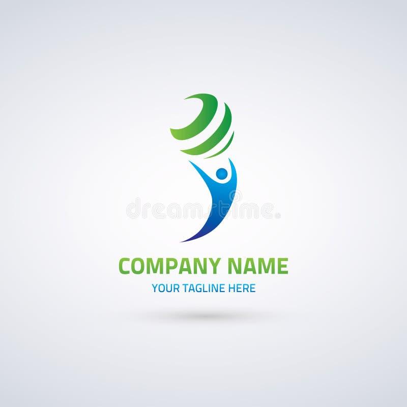 Logo Template For Corporate Identity abstrato 2 ilustração royalty free