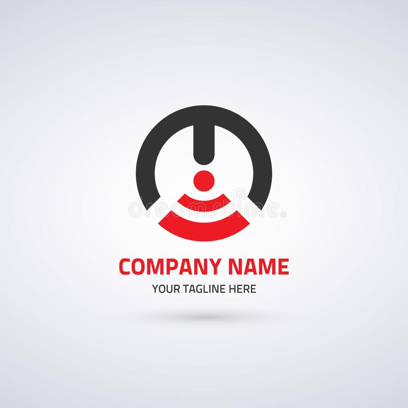 Logo Template For Corporate Identity abstrato 3 ilustração stock