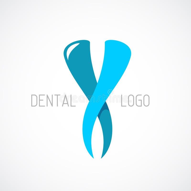 Logo Template dentaire Signe de stomatologie illustration stock